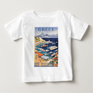 1955 Greece Athens Bay of Castella Travel Poster Baby T-Shirt