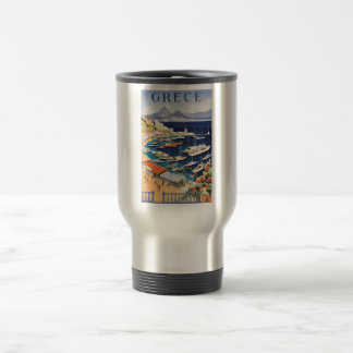 1955 Greece Athens Bay of Castella Travel Poster Travel Mug