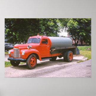 1955 Hartford Michigan Antique Red Fire Truck Poster
