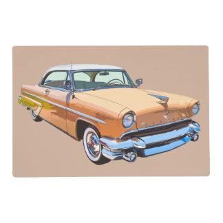 1955 Lincoln Capri Luxury Car Laminated Placemat
