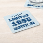 1955 or Any Year Birthday Limited Edition 60th V4Z Square Paper Coaster