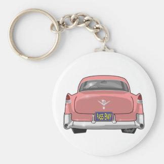 1955 Pink Cadillac Keychain