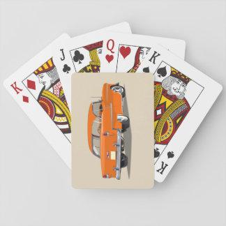 1955 Shoebox Playing Cards Orange