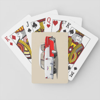 1955 Shoebox Playing Cards Red and White