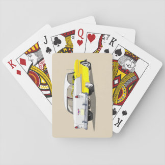 1955 Shoebox Playing Cards Yellow and White