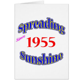 1955 Spreading Sunshine Card