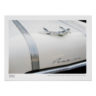 1955 Vintage Pontiac Star Chief Hood Ornament Poster
