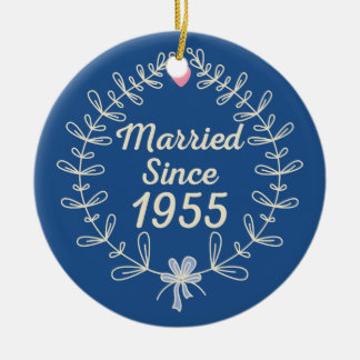 1955 Wedding Anniversary Gift Ornament