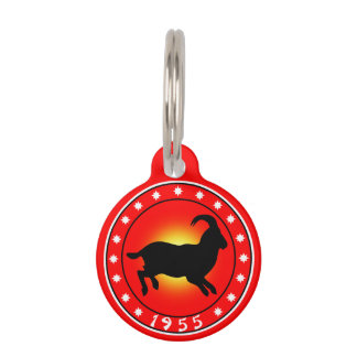 1955 Year of the Ram / Sheep / Goat Pet Tags