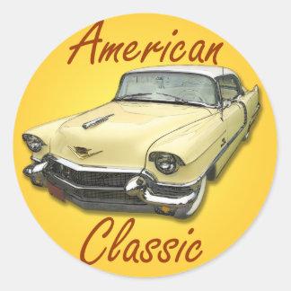 1956 Cadillac DeVille Round Sticker