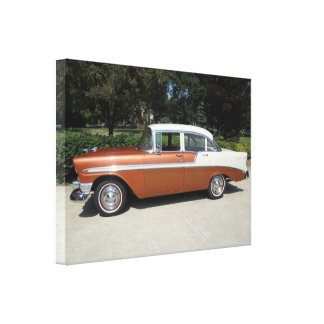 1956 Chevrolet Bel-Air 4 Door Sedan Canvas Print
