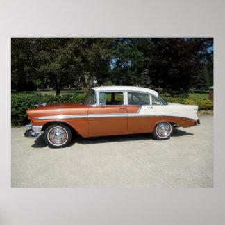 1956 Chevrolet Bel-Air 4 Door Sedan Poster