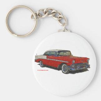1956_Chevrolet_emboss Keychain