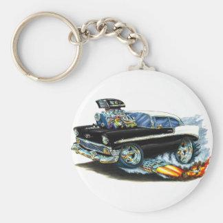 1956 Chevy 150-210 Black Car Keychain