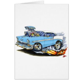 1956 Chevy 150-210 Lt Blue Car Card