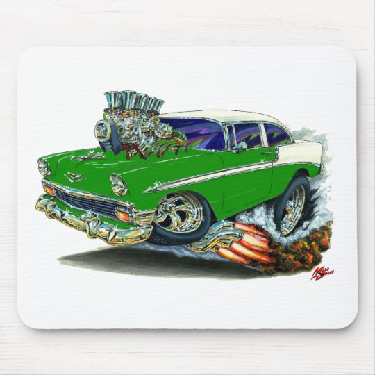 1956 Chevy Belair Green Car Mouse Pad