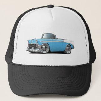 1956 Chevy Belair Lt Blue-White Convertible Trucker Hat