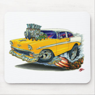 1956 Chevy Belair Orange Car Mouse Pad