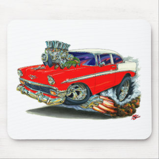 1956 Chevy Belair Red Car Mouse Pad