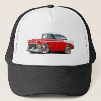 1956 Chevy Belair Red-White Car Trucker Hat