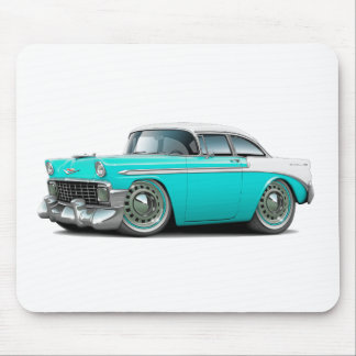 1956 Chevy Belair Turquoise-White Car Mouse Pad