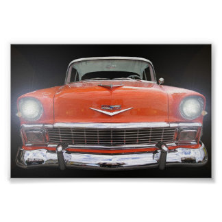 """1956 CHEVY """"LIGHTS ON"""" POSTER"""