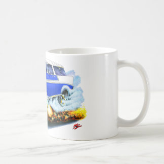 1956 Chevy Nomad Blue Car Coffee Mug