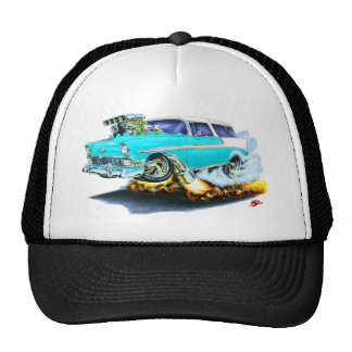 1956 Chevy Nomad Turquoise Car Trucker Hat