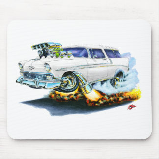 1956 Chevy Nomad White Car Mouse Pad