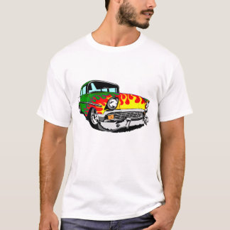 1956 Flamed Bel Air in Green T-Shirt