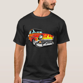 1956 Flamed Bel Air in Orange T-Shirt