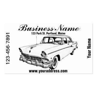 1956 Ford Custom Line Antique Car Illustration Business Card Templates