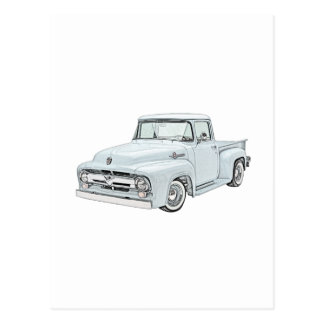 1956 Ford Truck in blue Postcard