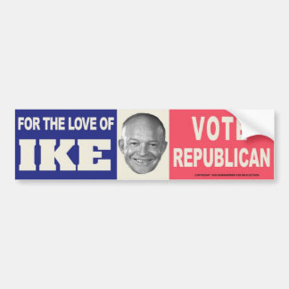 1956 IKE Vote Republican Vintage Bumper Sticker