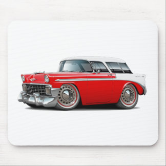 1956 Nomad Red-White Top Car Mouse Pad