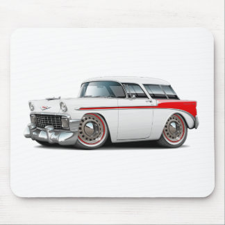 1956 Nomad White-Red Car Mouse Pad