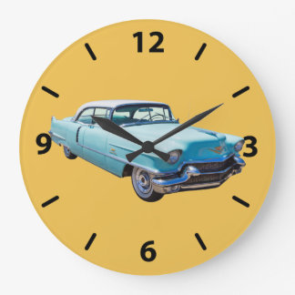 1956 Sedan Deville Cadillac Luxury Car Large Clock