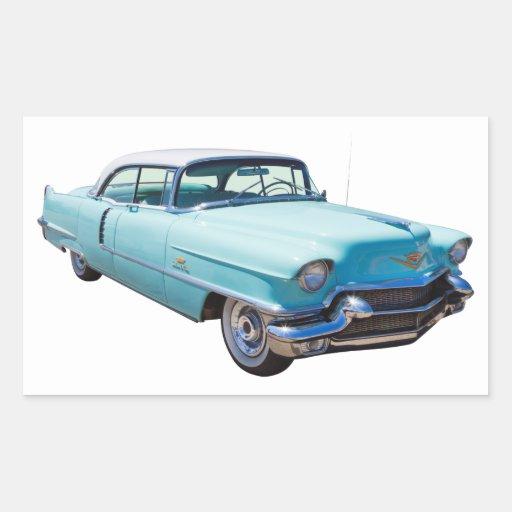 1956 Sedan Deville Cadillac Luxury Car Rectangular Sticker