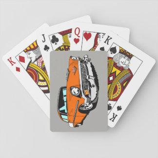 1956 Shoebox Playing Cards  in Orange