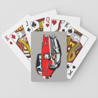 1956 Shoebox Playing Cards  in Red