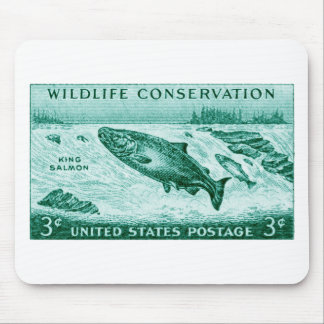 1956 Wildlife Conservation, Salmon Mouse Pad