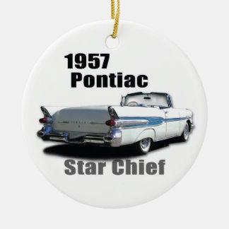 1957 & 1959 PONTIACS CERAMIC ORNAMENT
