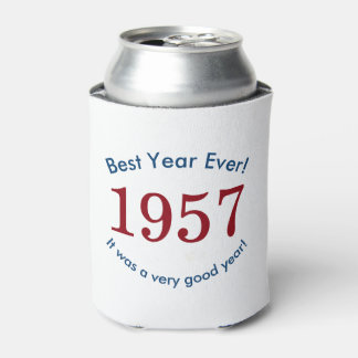 1957 ♥ Best Year Ever! 60th Birthday Can Cooler
