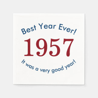 1957 ♥ Best Year Ever! 60th Birthday Paper Napkins