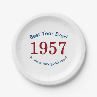 1957 ♥ Best Year Ever! 60th Birthday Paper Plates