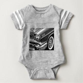 1957 Chevrolet Bel Air Black & White Baby Bodysuit