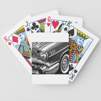 1957 Chevrolet Bel Air Black & White Bicycle Playing Cards