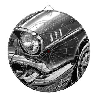 1957 Chevrolet Bel Air Black & White Dartboard