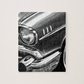 1957 Chevrolet Bel Air Black & White Jigsaw Puzzle