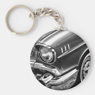 1957 Chevrolet Bel Air Black & White Keychain
